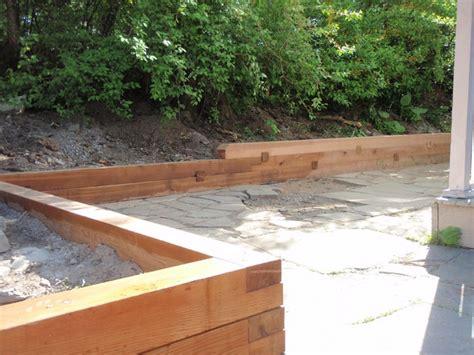cedar retaining wall 13 best wood retaining walls images on pinterest wood retaining wall landscaping ideas and