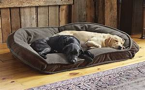 Comfortfill fleece bolster dog bed orvis comfortfill for Dog bed for multiple dogs