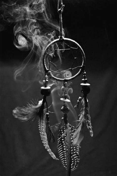 Catcher Black And White Wallpaper Iphone by Dreamcatcher Black White Smoke Peace Pipe Incense