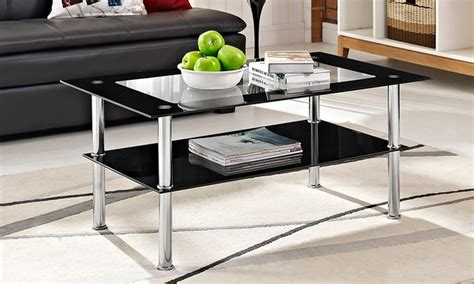 milano black coffee table milano black rectangle glass coffee table for 29 99