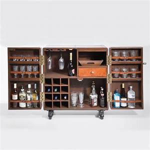 Colonial Portable Home Bar By I Love Retro
