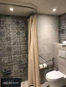 Rideau Baignoire Rigide : rideau de douche lin affordable rideau de douche moderne ~ Nature-et-papiers.com Idées de Décoration