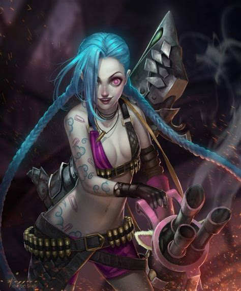 Anime League Of Legends Wallpaper - anime jinx league of legends league of legends
