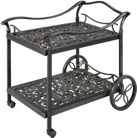 beverage cart aged bronze traditional outdoor