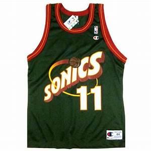 Vintage Detlef Schrempf Seattle Sonics Champion Jersey 90s ...