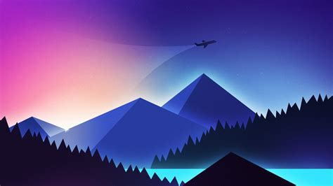wallpaper plane minimalism colors  art