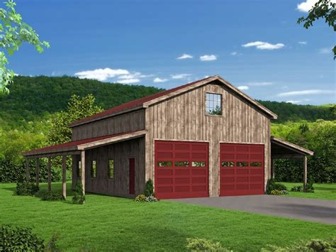 Boat Garage Plans With Loft by 062b 0001 Outbuilding Plan Or Boat Storage Garage With