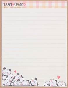 cute funny panda checkered pattern kawaii letter set from With kawaii stationery letter set