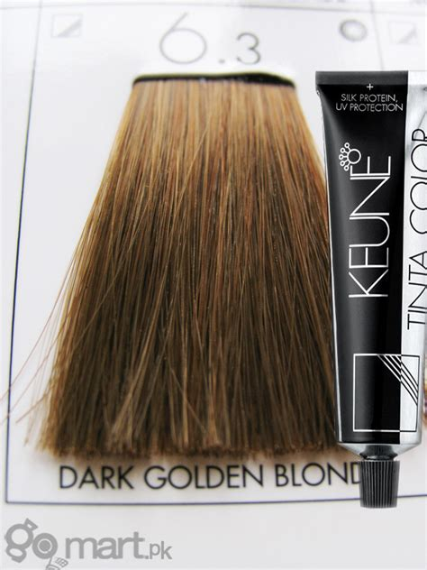 keune tinta color dark golden blonde  hair color