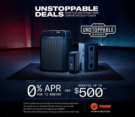 trane rebates special offers  air conditioning hvac