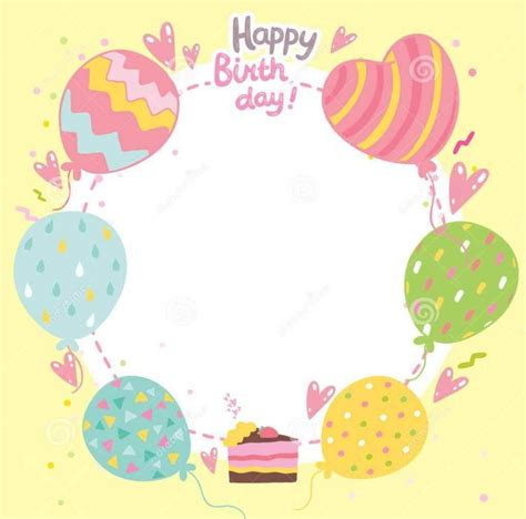 easy birthday card template free happy birthday templates template update234