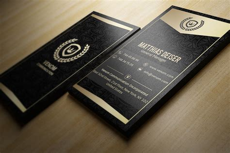 gold black business card template inspiration cardfaves