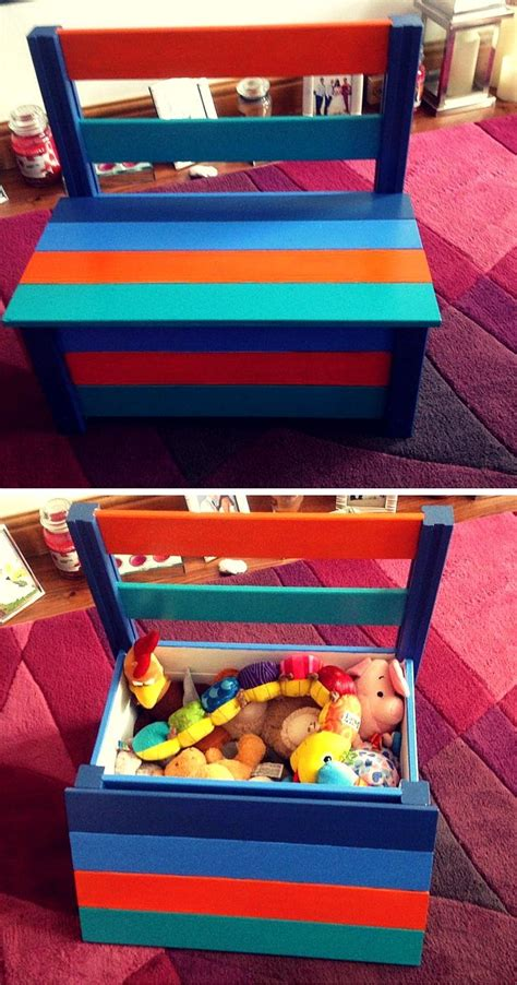 colorful pallet toy box  chair pallet toy boxes