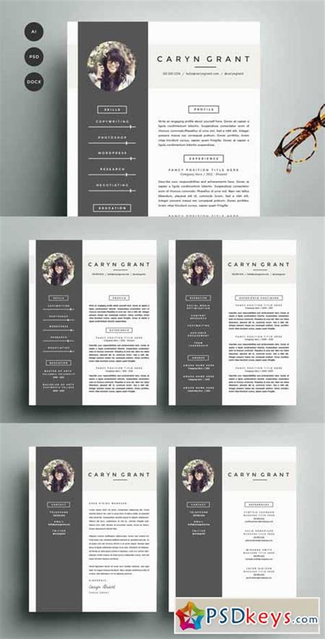 resume template  pack cv template