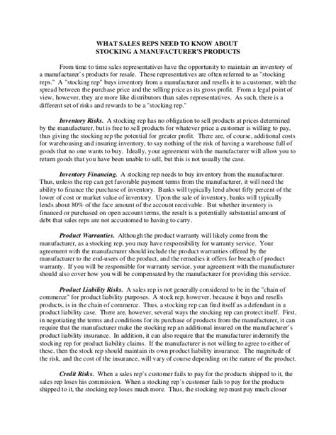 Manufacturers Rep Agreement Template by Manufacturers Rep Agreement Template 28 Images