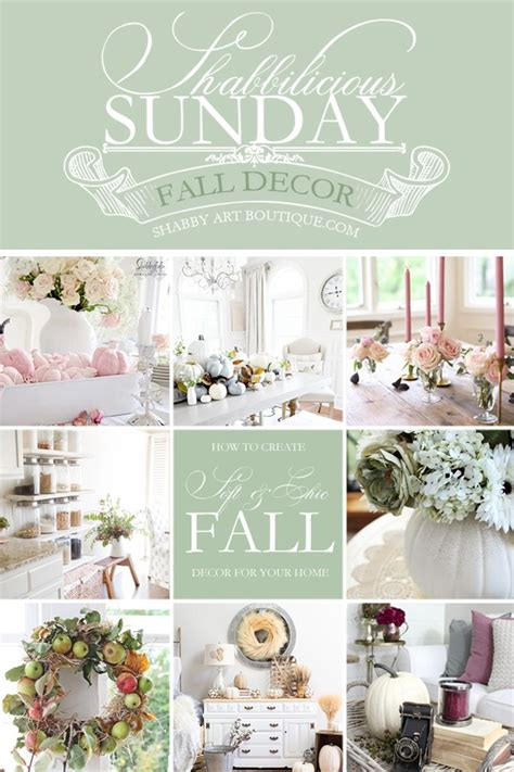 shabby chic home boutique shabbilicious sunday softer chic fall homes shabby art boutique