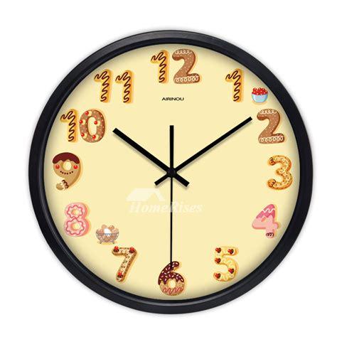 cartoon kids wall clock   quiet quartz bedroom