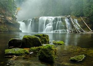 Washington, Gifford, Pinchot, Waterfall, River, Forest, Wallpapers, Hd, Desktop, And, Mobile