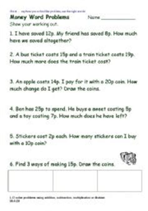 teaching worksheets money