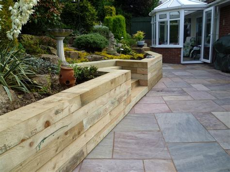 small timber retaining wall timber sleepers retaining wall farmhouse design and furniture timber retaining wall