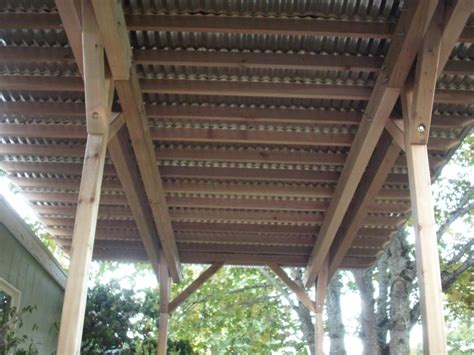 corrugated metal deck roof patio cover builder deck