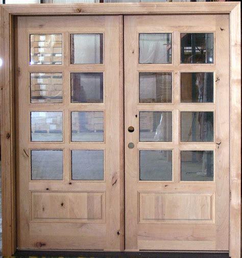 exterior double door  literustic knotty alder