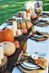 20, Thanksgiving, Tablescape, Decorating, Ideas, With, Natural, Elements