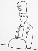 Chef Coloring Pages Hat Printable Realistic Downloads sketch template