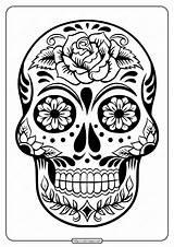 Skull Sugar Printable Coloring Pdf Tweet Whatsapp sketch template