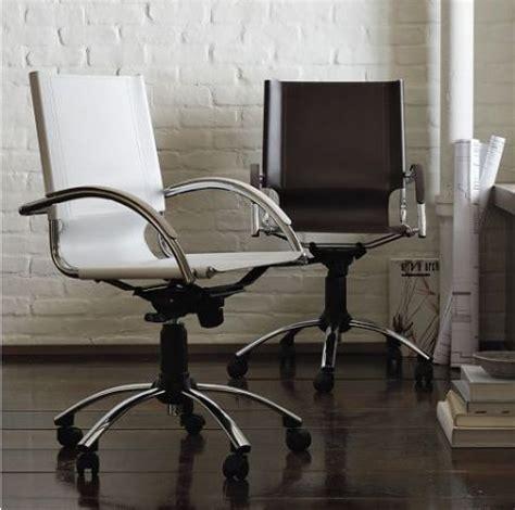 Elegant swivel leather desk chair