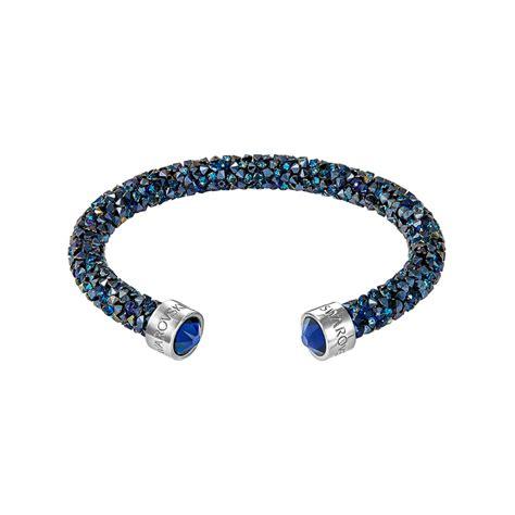 bracelet swarovski bleu bracelet jonc ouvert swarovski crystaldust bleu 5250068