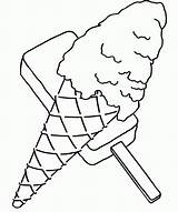 Coloring Ice Cream Pages Sweet Template Sundae Printable Easy Clip Shapes Library Popular sketch template