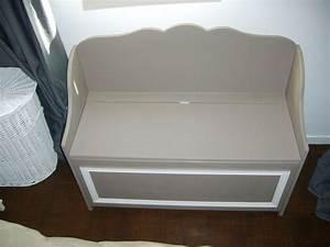 Banc Coffre Enfant : le banc coffre photo de les meubles de seb esprit cottage ~ Teatrodelosmanantiales.com Idées de Décoration