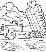 Mack Truck Coloring Dump Printable Getcolorings Clip Clipart sketch template