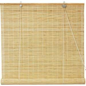 bamboo roll up blinds natural 72 quot x 72 quot walmart com