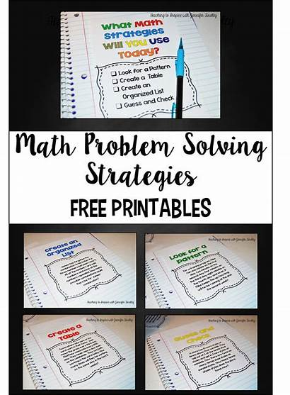 Problem Solving Math Strategies Teaching Problems Examples