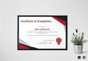 Free Training Completion Certificate Templates Printable Certificates Of Completion Sampleprintable Com