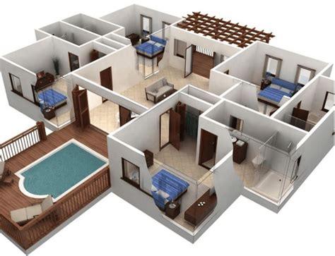 ide terbaik denah lantai rumah  pinterest house
