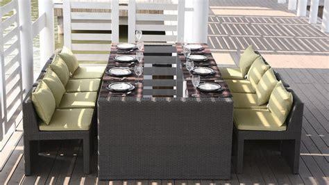 table chaise exterieur table et chaises de jardin en alu et composite mobilier