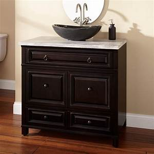 "36"" Orzoco Vessel Sink Vanity - Espresso - Bathroom"