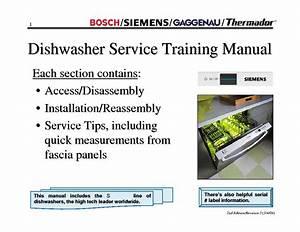 Bosch Siemens Gaggenau Thermador Dishwasher Training 2004