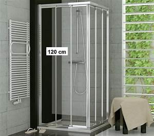 Schiebetür 80 Cm : duschabtrennung eckeinstieg 80 x 120 schiebet r glas oder kunststoff ~ Markanthonyermac.com Haus und Dekorationen