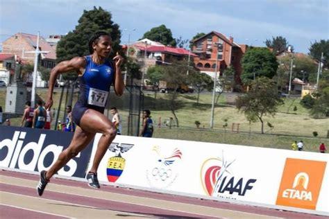 Quito Los velocistas ecuatorianos Ángela Tenorio y Álex