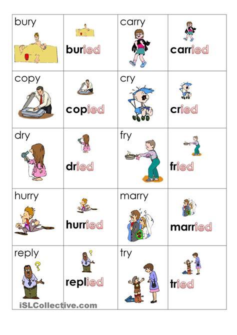 simple  tense playing cards simple  tense verbs