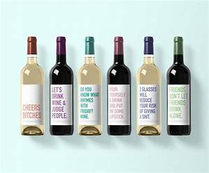 girly wine label collection wine label 6 pack funny With collecting wine labels