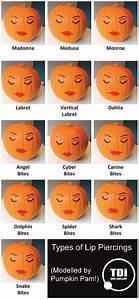 Types Of Lip Piercings Modelled By Pumpkin Pam