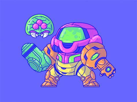 Super Metroid Samus Aran By Daniel Mackey Dribbble