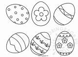 Easter Eggs Shapes Six Coloring Coloringpage Eu sketch template