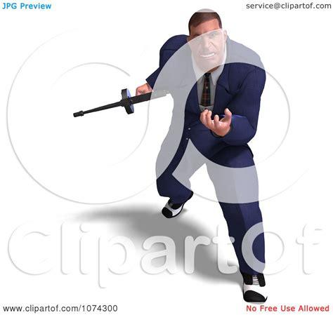 clipart  mafia gangster   tommy gun  royalty  cgi illustration  ralf