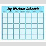 Weekly Workout Schedule Template | 600 x 486 jpeg 132kB